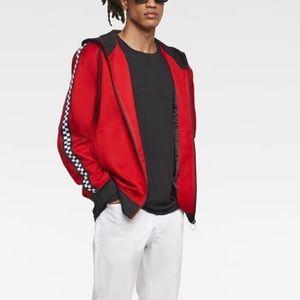 Zara men red jacket with stripes